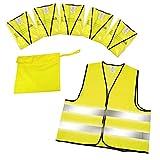elasto form Warnwesten 5er-Set im Etui nach EN ISO 20471 Zertifiziert Warnweste Gelb Einheitsgröße...