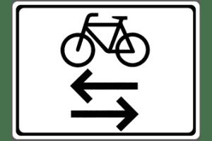VZ 1000-32: Radverkehr kreuzt von links und rechts