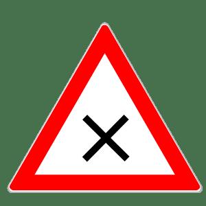 Verkehrszeichen 102: Kreuzung