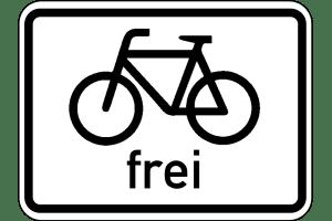 VZ 1022-10: Radverkehr frei