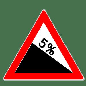 Verkehrszeichen 108: Gefälle