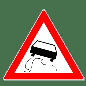 Zeichen 114: Schleuder- & Rutschgefahr
