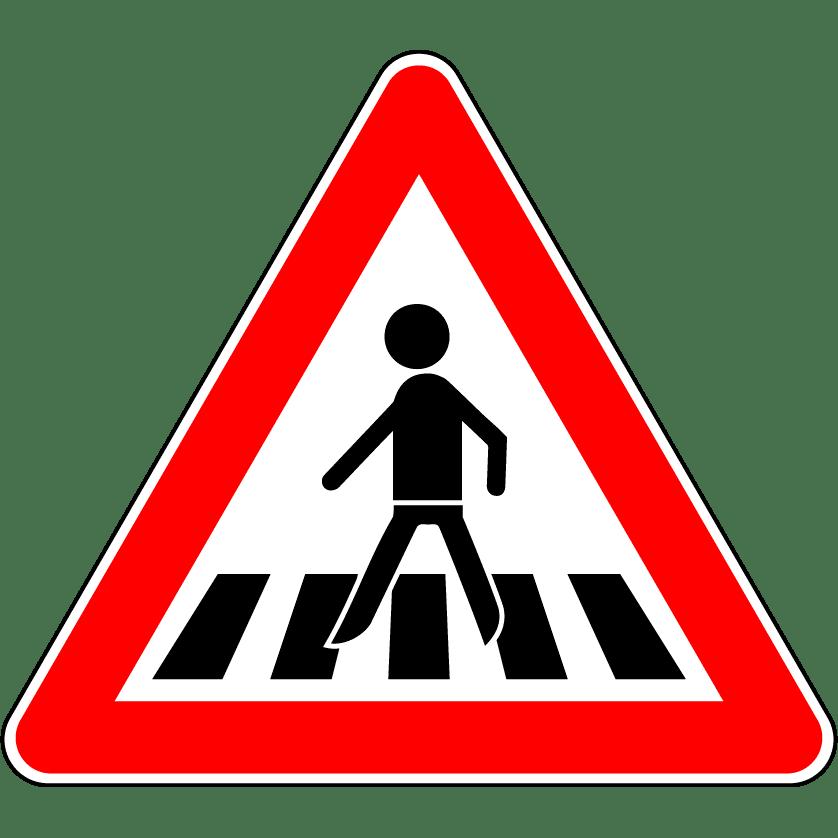 VZ 134: Fußgängerüberweg (Gefahrenzeichen)