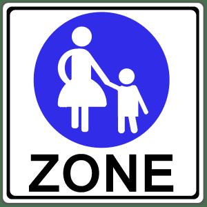 Zeichen 242-1: Beginn einer Fußgängerzone