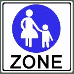 VZ 242.1: Fußgängerzone