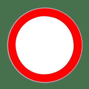 Zeichen 250: Verbot für alle Fahrzeuge