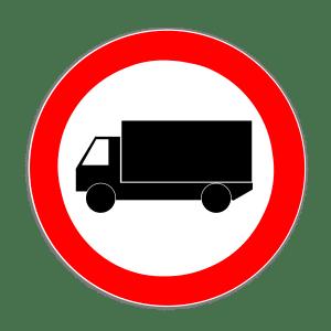Zeichen 253: Verbot für Kfz über 3,5 t