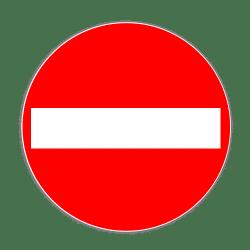 VZ 267: Verbot der Einfahrt