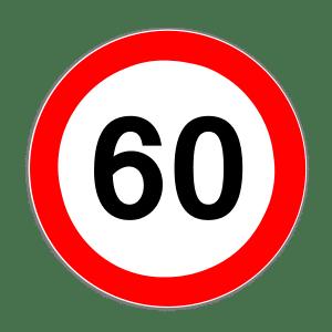 Zeichen 274: Geschwindigkeitsbegrenzung