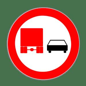 Zeichen 277: Überholverbot für Lkw
