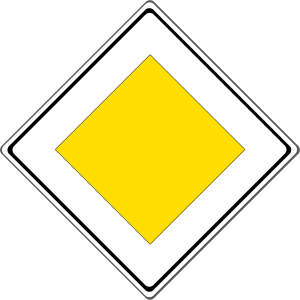 Verkehrszeichen 306: Vorfahrtstraße