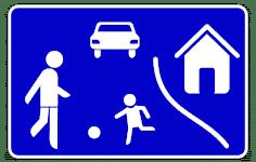 VZ 325.1 - verkehrsberuhigter Bereich