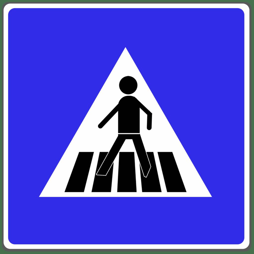 VZ 350: Fußgängerüberweg (Richtzeichen)