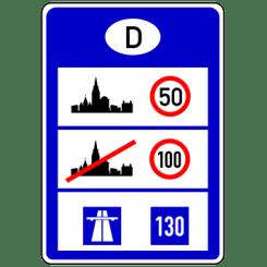 VZ 393: Informationstafel an Grenzübergangsstellen