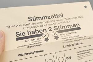 Anleitung zum Wahlzettel: Beim Ausfüllen gilt es unter anderem die Anzahl der Stimmen zu beachten.