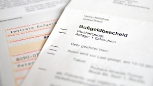 Der Bußgeldbescheid enthält die Sanktionen einer Ordnungswidrigkeit