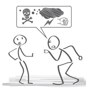 Cybermobbing kann in Form einer strafrechtlichen Beleidigung oder Bedrohung erfolgen.