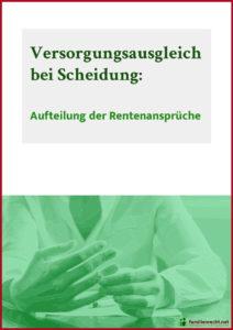 Titelbild eBook Versorgungsausgleich