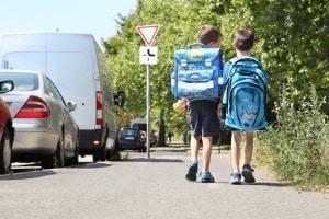 Die gesetzliche Unfallversicherung kümmert sich auch um die Kinder in der Schule.