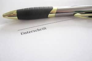 Kündigung der Tiefgarage: Das Muster müssen Sie unterschreiben.