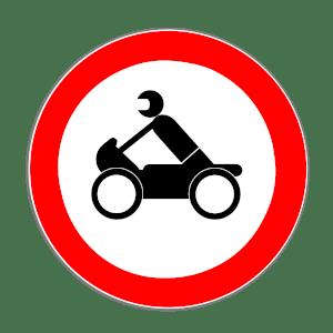 Ein Durchfahrtsverbot für das Motorrad ordnet das Verkehrszeichen 255 an.