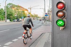 Die Promillegrenze für Fahrrad-Fahrer liegt bei 1,6.
