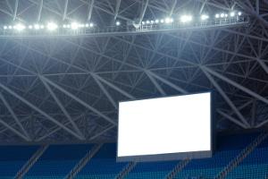 Ein Public Viewing kann auch im Stadion stattfinden.