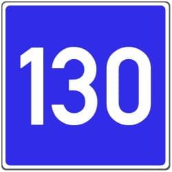 Die Richtgeschwindigkeit auf der Kraftfahrstraße beträgt üblicherweise 130 km/h.