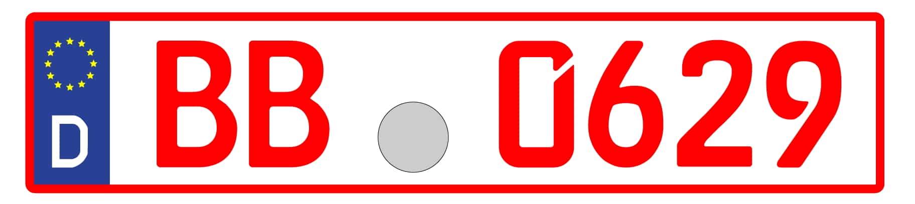 Rotes Kennzeichen
