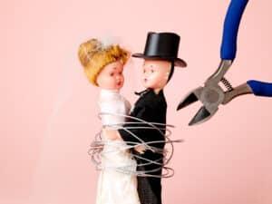 Eine Scheidung oder Trennung ist ein häufiger Grund für einen kurzfristigen Umzug.