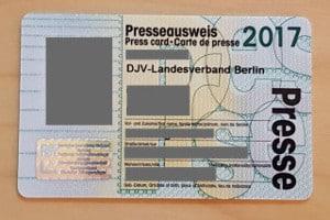 Verdi & DJV: Den Presseausweis sollten anerkannte Verbände ausstellen.