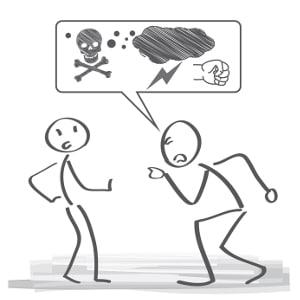 Volksverhetzung: Ein privates Gespräch fällt normalerweise nicht unter diesen Tatbestand.