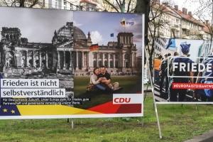 Es ist keine Seltenheit, dass Unbekannte Wahlplakate bemalen ober beschädigen.