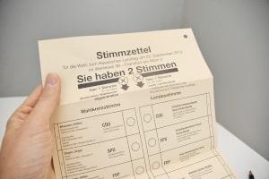 Das Wahlsystem in Deutschland sieht eine Erst- und eine Zweitstimme vor.