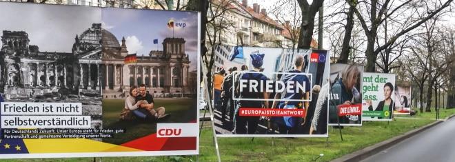 Steht die nächste Wahl an, säumt Wahlwerbung die Straßen.