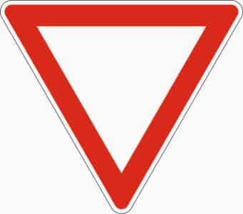 Zeichen 205 (Vorfahrt gewähren)