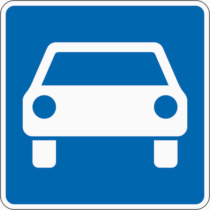 Zeichen 331.1 markiert den Anfang der Kraftfahrstraße.