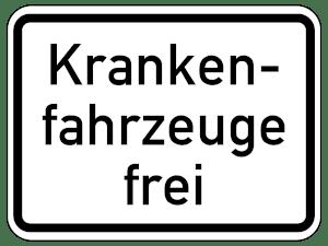 Zusatzzeichen geben die Busspur für andere Nutzer frei, z. B. für Krankenfahrzeuge.